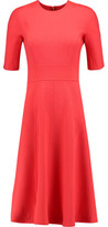 Lela Rose Paneled Wool-Blend Crepe Dress