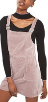 Topshop Petite Women's Velvet Corduroy Pinafore Dress