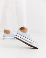 Converse Blue Chuck Taylor Platform All Star Renew Recycled Sneakers