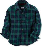 Carter's Plaid Flannel Cotton Shirt, Little Boys (5-8)