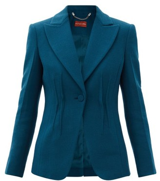 Altuzarra Eleanor Peak-lapel Wool Jacket - Blue
