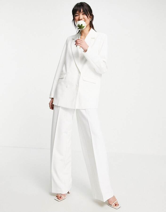 Thumbnail for your product : Y.A.S exclusive Bridal tailored blazer co-ord in white