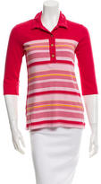 Sonia Rykiel Printed Three-Quarter Sleeve Top