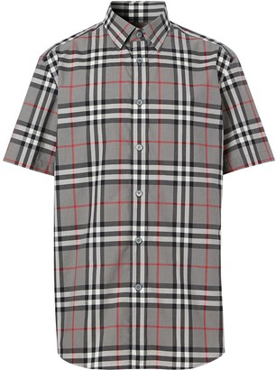 Burberry Checked Short-Sleeved Shirt