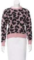 Saint Laurent Mohair Heart Patterned Sweater