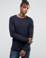 Jack and Jones Knitted Crew in Raw Neck