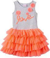 """Nannette Baby Girl Love"""" Applique Dress"""