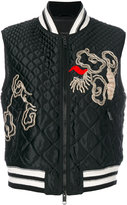 Ermanno Scervino embroidered padded jacket - women - Silk/Polyamide/Polyester/Wool - 40