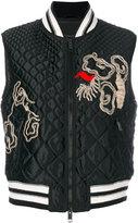 Ermanno Scervino embroidered padded jacket