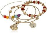 Cara Yingyang and Buddha Charm Gold Charm Bracelet