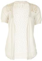 Izabel London Cream floral pattern cardigan