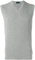 Zanone v-neck sleeveless jumper