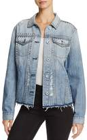 Rails Knox Studded Distressed Denim Jacket