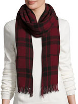 Eileen Fisher Soft Wool/Cashmere Plaid Scarf