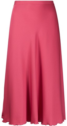 Theory High-Waist Flared Skirt