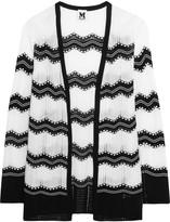 M Missoni Cotton-blend crochet-knit cardigan