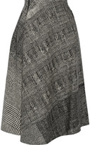 Jason Wu Asymmetric Wool-jacquard Skirt - Black