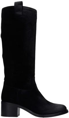 Julie Dee High Heels Boots In Black Suede