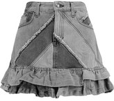 Marc by Marc Jacobs Patchwork Denim Mini Skirt