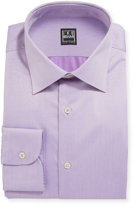 Ike Behar Men's Marcus Twill Barrel-Cuff Dress Shirt, Lavender