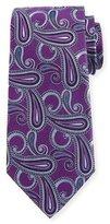 Armani Collezioni Woven Paisley Silk Tie, Purple