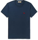 Burberry Cotton-jersey T-shirt - Navy