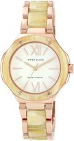 Anne Klein Women's AK/1148RGHN Horn Rose-Tone Horn Resin Bracelet Watch