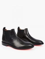 Paul Smith Black Red-Soled Chelsea Boots