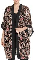 Daniel Rainn Plus Floral Burnout Kimono Cardigan