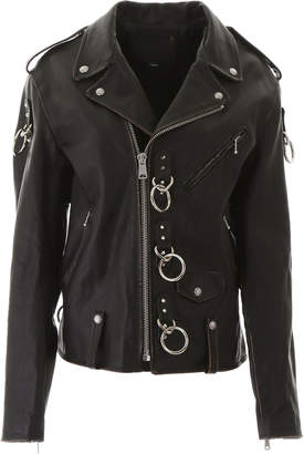 R 13 Biker Jacket With Decorations