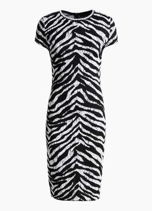 St. John Zebra Jacquard Knit Dress
