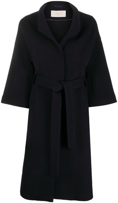 Circolo 1901 Crop-Sleeve Belted Coat