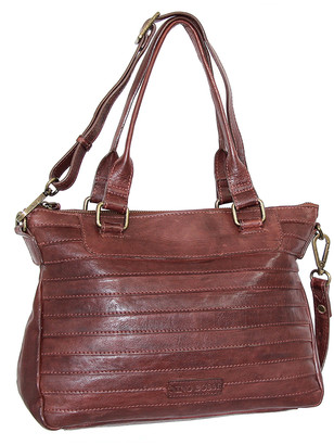 Nino Bossi Handbags Women's Handbags Chestnut - Chestnut Rebekah Convertible Leather Satchel