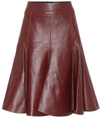 Dorothee Schumacher Modern Volumes leather midi skirt