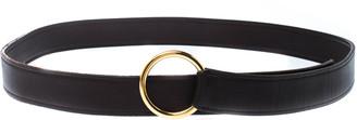 Hermes Dark Brown Leather O Ring Buckle Belt 115cm