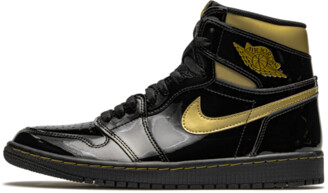 Jordan Air 1 Retro High OG 'Black Metallic Gold' Shoes - Size 4.5