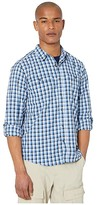 Royal Robbins Vista Dry Plaid Long Sleeve Shirt (Deep Blue) Men's Long Sleeve Button Up