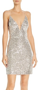 Aidan Mattox Sequin V-Neck Cocktail Dress - 100% Exclusive
