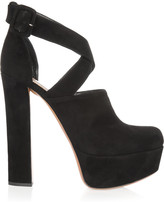 Alaia Suede cutout ankle boots