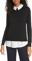 Ted Baker Andryaa Pergola Embellished Collar Layered Sweater