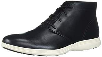 Cole Haan Men's Grand Tour Chukka Black Leather/Ivory Boot