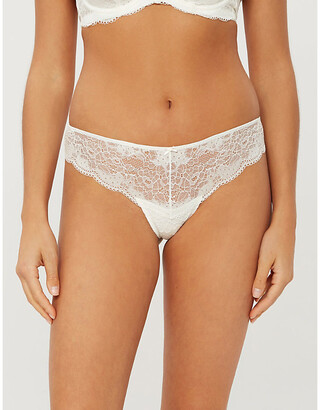 Panache Clara stretch-mesh thong