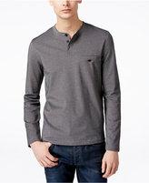 Alfani Men's Big & Tall Long-Sleeve Henley Shirt, Only at Macy's