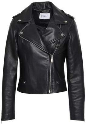 Claudie Pierlot Cassandre Studded Textured-leather Biker Jacket