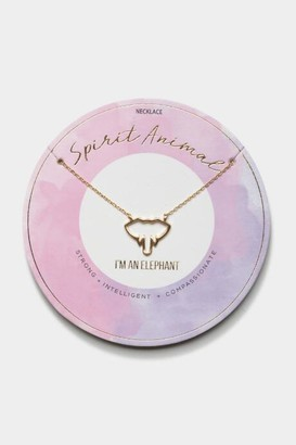 francesca's Elephant Spirit Animal Pendant Necklace - Purple
