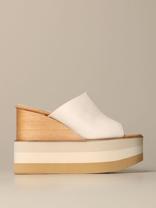 Paloma Barceló Paloma Barcelograve; Daria Wedge Sandal In Leather