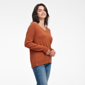 Naadam Cashmere Oversized V-Neck Sweater