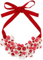 P.A.R.O.S.H. floral motif short necklace