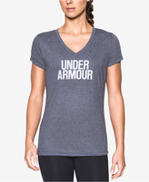 Under Armour Threadborne Wordmark Heathered V-Neck Training Top