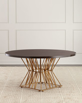 Ambella Eiffel Gold Base Dining Table